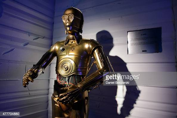 C3PO statue on display during E3 Electronic Entertainment Expo at Los Angeles Convention Center on June 18 2015 in Los Angeles California