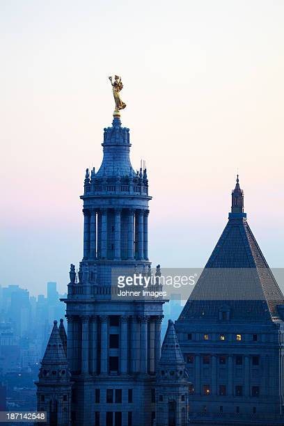 Statue on top of Municipal Building