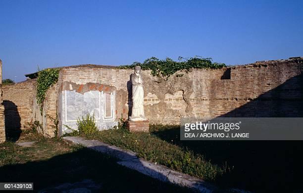 Statue Ostia Antica Rome Italy Roman civilisation