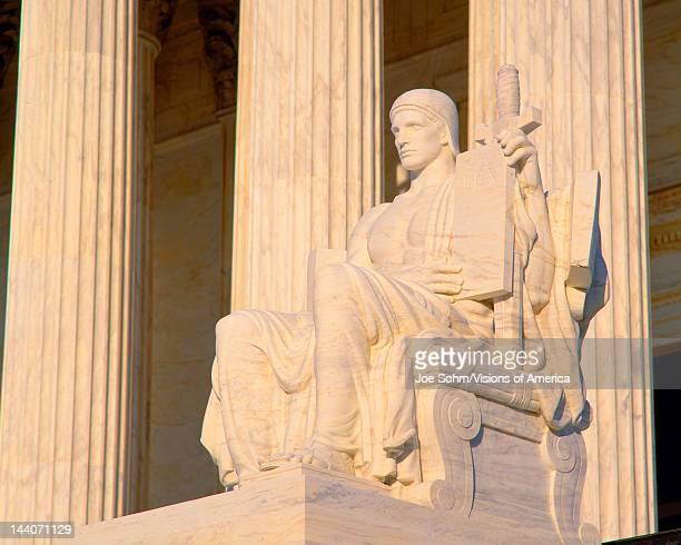 Statue outside US Supreme Court Washington DC