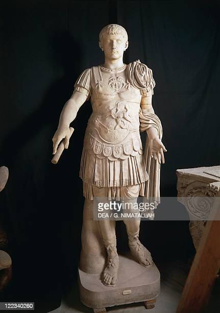 Statue representing the Emperor Caligula JulioClaudian Dynasty marble imperial age