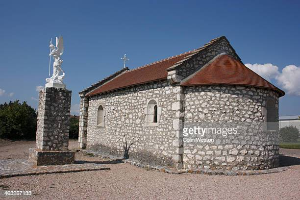 Statue, Sainte Foy Chapel, Ebreuil, France