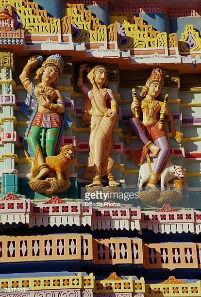 Statues at Jain temple, Jakhan, Kutch, Gujarat, India