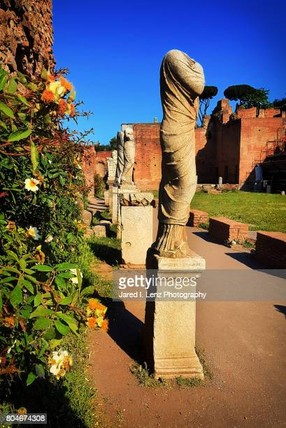 Statues at the House of the Vestal Virgins