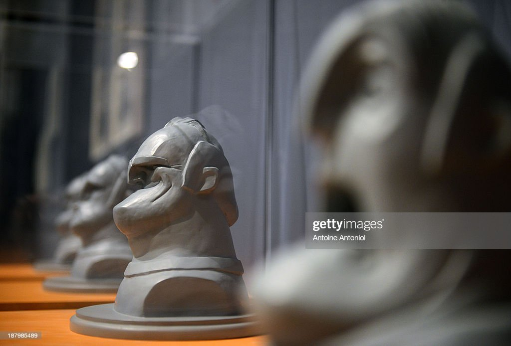 Statues of character Bob from the film The Incredibles sit on display at 'Pixar, 25 years of Animation' exhibition on November 14, 2013 in Paris, France. The Art Ludique Museum will open its doors on November 16 with the Pixar exhibition.
