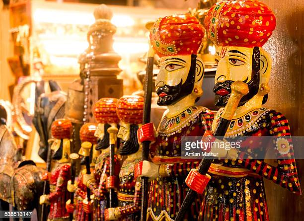 Statues of Rajasthani soldiers & handicrafts