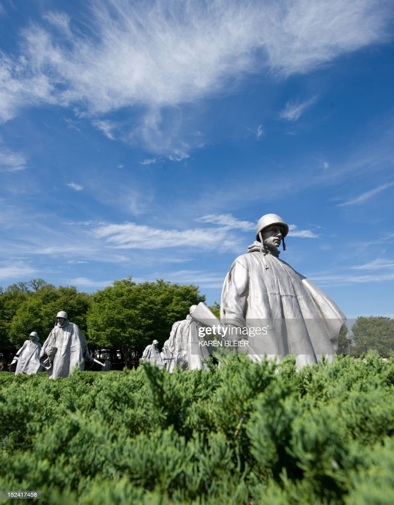Statues of soldiers are seen at the Korean War Memorial September 20 2012 in Washington DC The memorial honors those who served in the Korean War AFP...
