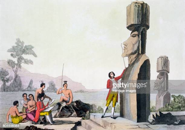 Statues on Easter Island late 18th century Known as Moai these large stone statues in human form are carved from a type of volcanic rock known as...