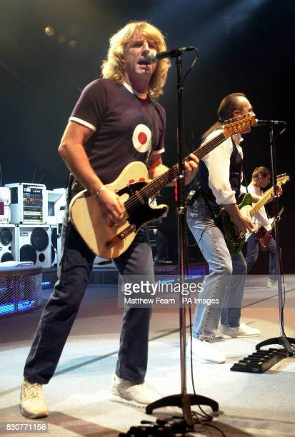 Status Quo guitarist Rick Parfitt on stage at the Fairfield Halls in Croydon Parfitt had been reported to have been suffering from RSI but the band...