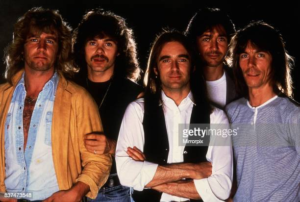 Status Quo Rock Group band members Francis Rossi and Rick Parfitt with the other members of the band