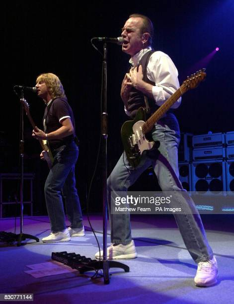 Status Quo's Francis Rossi and Rick Parfitt on stage at the Fairfield Halls in Croydon Parfitt had been reported to have been suffering from...