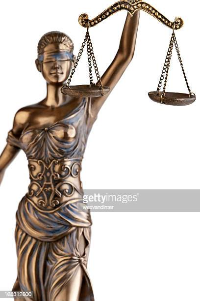 A statute of Themis holding a balance