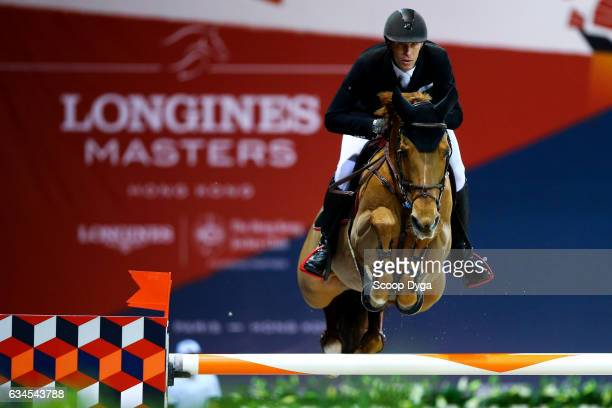 Staut Kevin riding Ayade de Septon et HDC during the Longines Masters of Hong Kong on February 10 2017 in Hong Kong Hong Kong