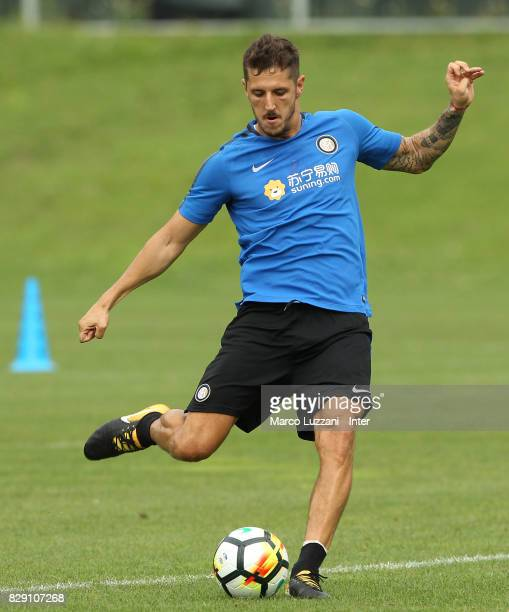Stavan Jovetic of FC Internazionale in action during the FC Internazionale training session at the club's training ground Suning Training Center in...