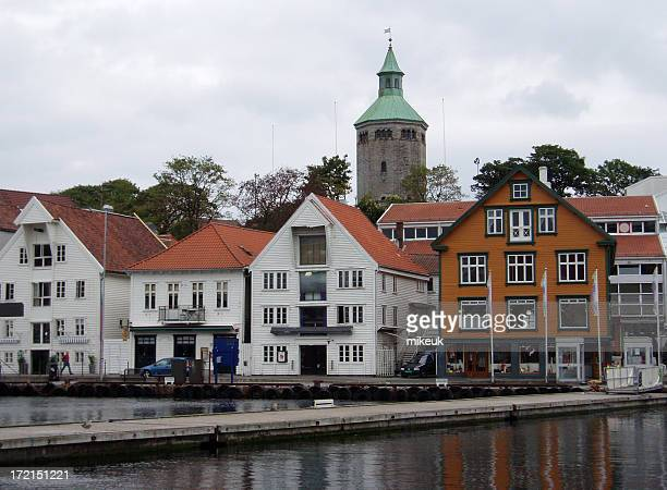 Stavanger Norway Scandinavia city centre harbour scene