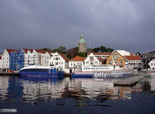 Stavanger Norway Scandinavia city centre harbour scene