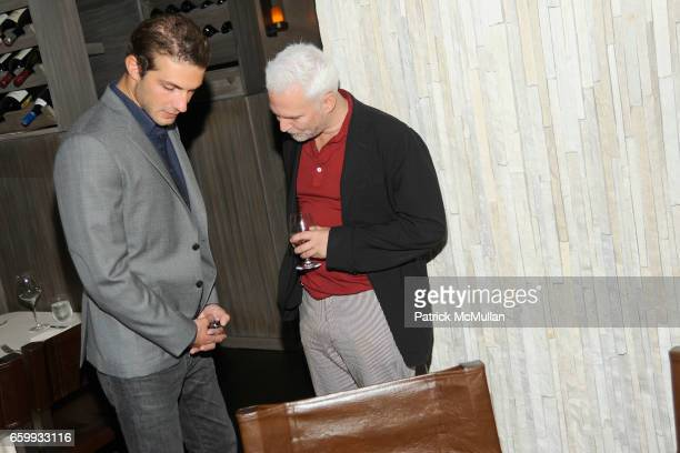 Stavros Niarchos and Klaus Biesenbach attend ABY ROSEN PETER BRANT ALBERTO MUGRABI Dinner at W SOUTH BEACH at W SOUTH BEACH on December 3 2009 in...