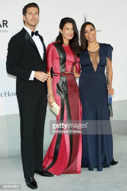 Stavros Niarchos Goga Ashkenazi and Rosario Dawson attend amfAR's 21st Cinema Against AIDS Gala Presented By WORLDVIEW BOLD FILMS And BVLGARI at...