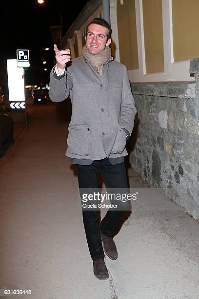 Stavros Niarchos III during the 'Jeff Elrod Figment' exhibition at Vito Schnabel Gallery on December 28 2016 in St Moritz Switzerland