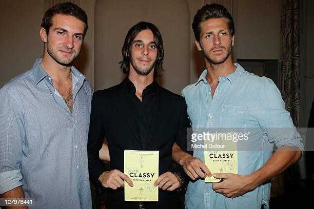 Stavros Niarchos III Vladimir Roitfeld and JT Besins attend the Derek Blasberg 'Very Classy' Book Signing hosted by Moda Operandi on October 3 2011...