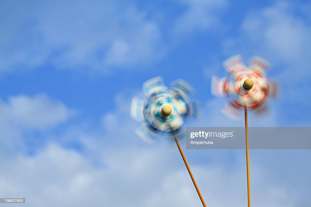 Stay cool (Japanese Pinwheels) : Stock Photo