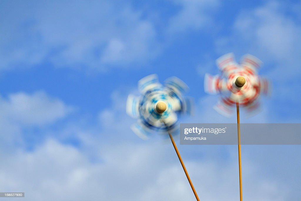 Stay cool (Japanese Pinwheels) : Stock Photo