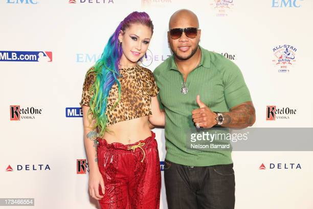 Stayc Reign and rapper Flo Rida attends Major League Baseball's All Star Bash presented by MLBcom Delta and Nivea on JULY 14 2013 in New York City