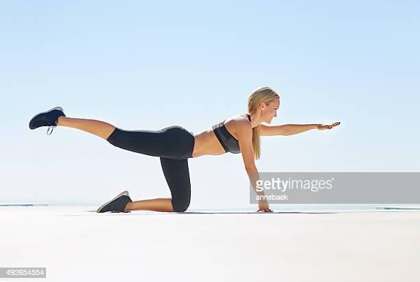 Bleiben Sie in form mit einigen Planken