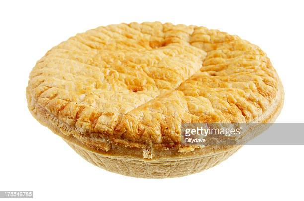 Steak And Ale Pie Isolated On White