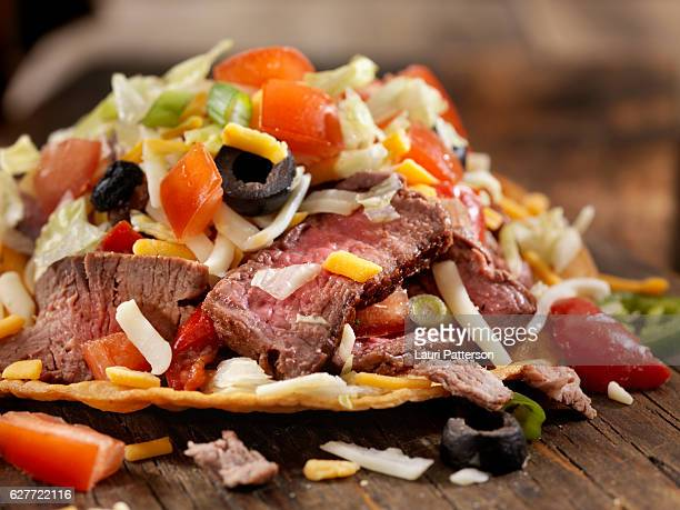 Steak and Cheese Tostada