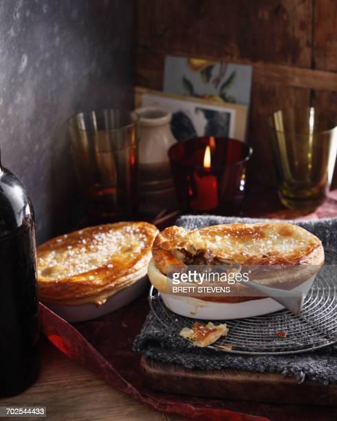 Steak and kidney puff pastry pie