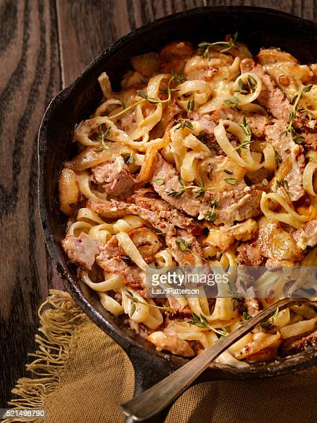 Steak and Mushroom Fettuccine
