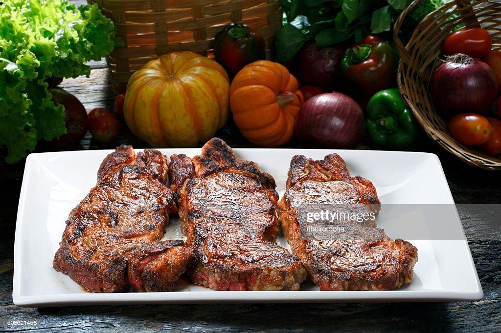 Steak chorizo : Stock Photo
