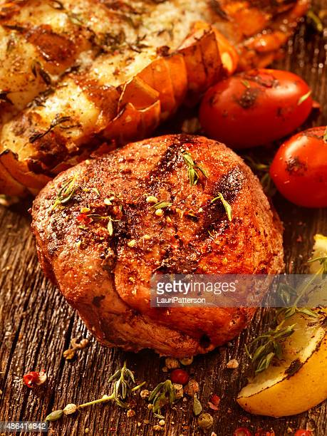 BBQ Steak Fillet and Grilled Lobster Tail