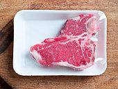 steak in sealed package