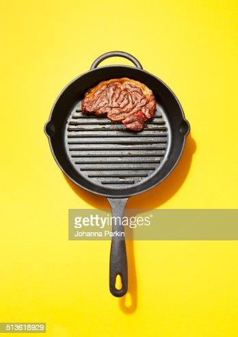 Steak in the shape of a brain