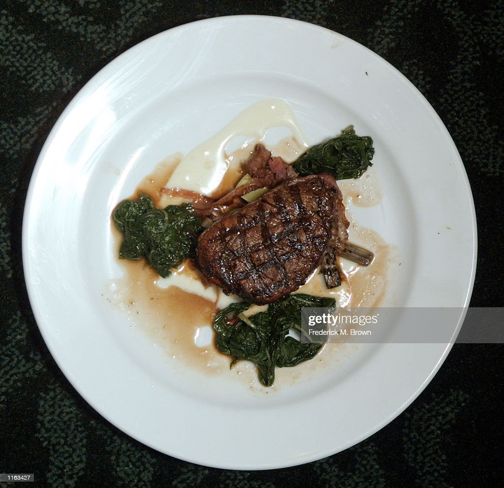 Steak prepared by Chef Benjamin Ford during 'The Great Chefs of Los Angeles Dinner' at the Beverly Hills Country Club September 7, 2001 in Los Angeles, CA. The dinner honored Chef Benjamin Ford of the Chadwick Restaurant.