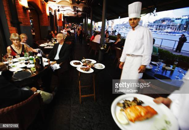 Steak restaurant 'Cabanas Las Lilas' on January 13 2008 in Buenos Aires Argentina The Republic of Argentina is a former spanish colony and the...