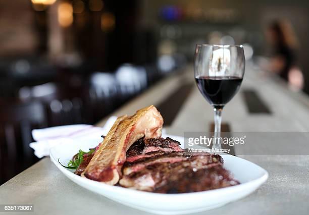Steak served with Bone Marrow