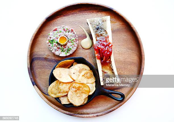 Steak Tartare and Bone Marrow Appetizer