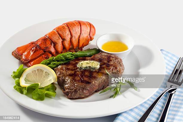 Steak with lobster