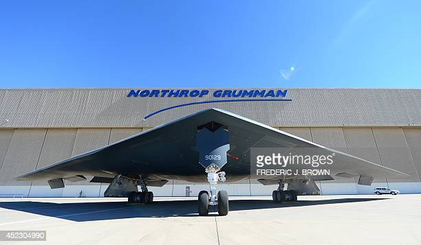 Stealth Bomber at the Palmdale Aircraft Integration Center of Excellence in Palmdale California on July 17 where the US Air Force and manufacturer of...