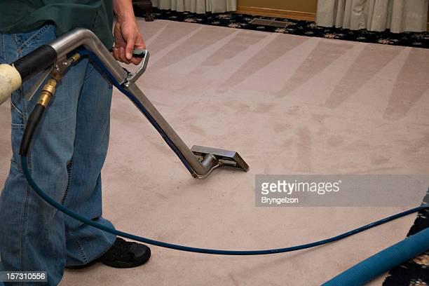 Vapore Carpet processo di pulizia