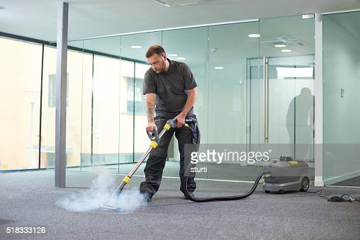 steam cleaning the office carpet