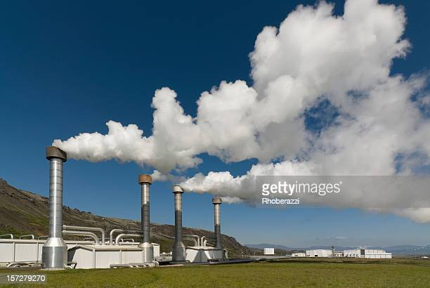 Steam emitted from a power plant