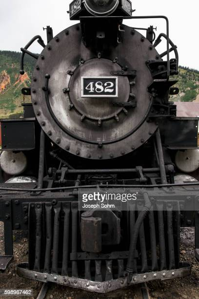 Steam engine, Durango and Silverton Narrow Gauge Railroad, Silverton, Colorado, USA, 07.07.2014