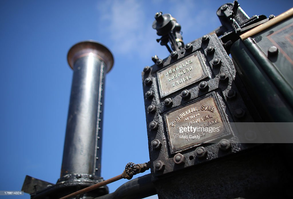 A steam engine is shown at the Cornish Steam and Country Fair at the Stithians Showground on August 16, 2013 near Penryn, England. The annual show, now in 58th year, is one of Cornwall's largest outdoor events and is one of the UK's most popular and respected steam rallies.