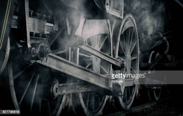 Steam Engine Locomotive Train Wheel Wispy