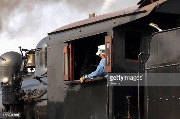 Steam Engine Train Engineer
