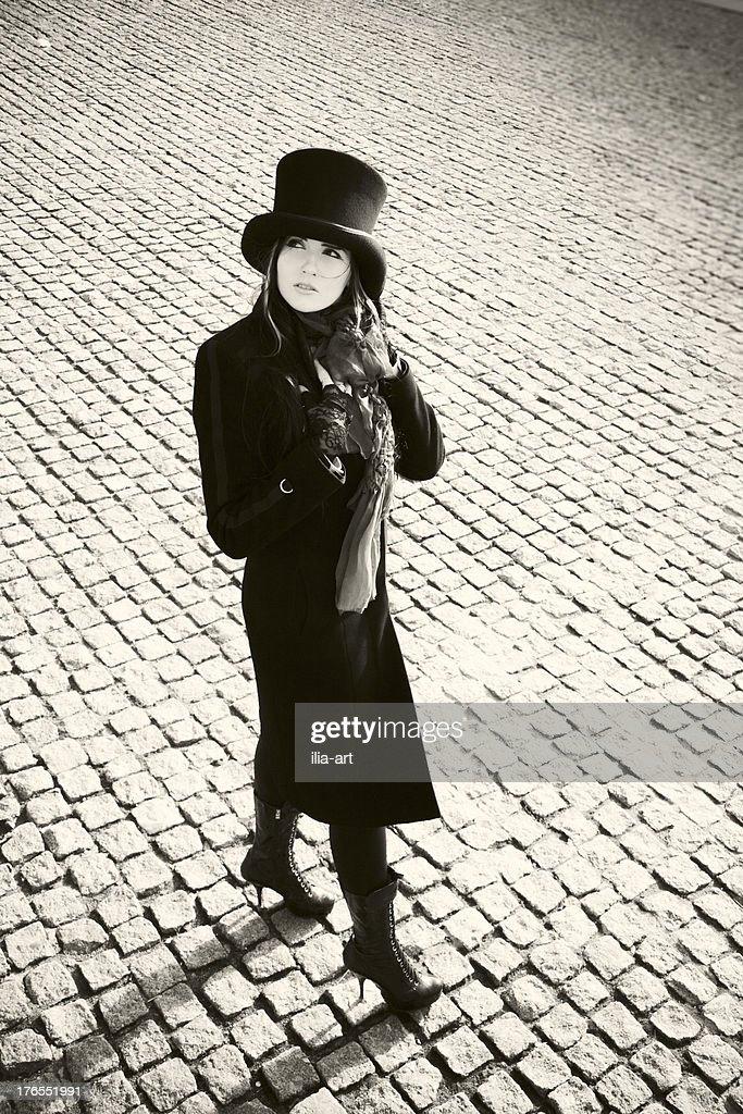 Steam girl : Stock Photo